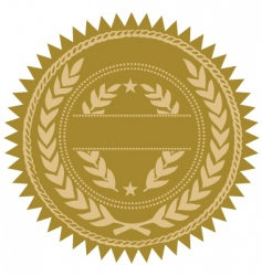 Gold seal vector
