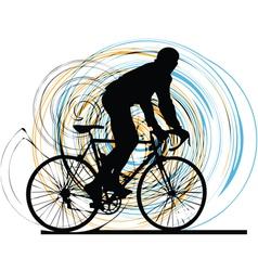 Biker in action vector
