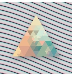 Hipster triangle background vector