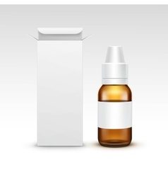 Blank medicine medical glass spray bottle vector