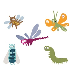 Googly eyed insects vector