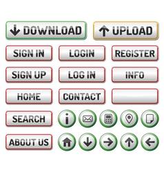 Internet web 2 icon button vector