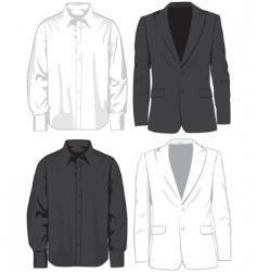 Coats and shirts vector