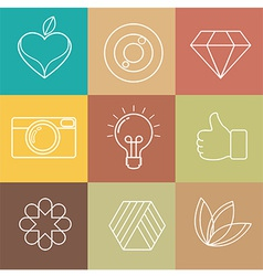 Abstract hipster icon vector