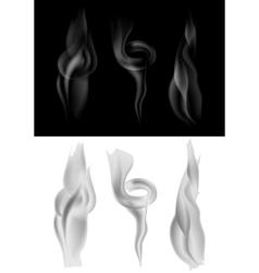 Set of dark and light smoke vector