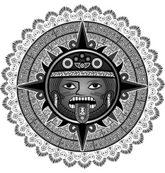 Sun of indians of aztecs vector