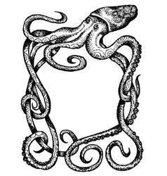 Giant octopus vector