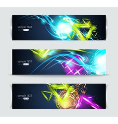 Set of banners and abstract headers vector