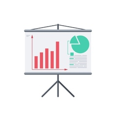 Infographic board screen with diagrams vector