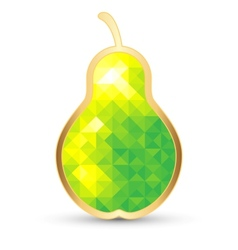 Stylized pear isolated on white vector