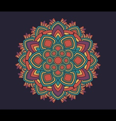 Geometric radial pattern vector