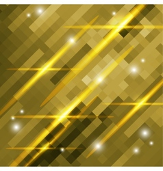 Abstract gold background of squares vector