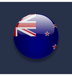 Round icon with flag of new zealand vector