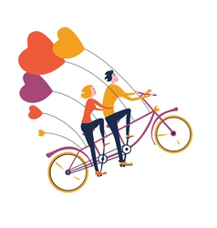 Flying tandem bike vector