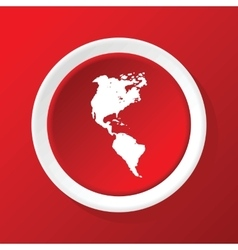 Continents icon on red vector