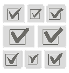 Icons with checkmarks vector