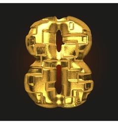 Golden letter 8 vector