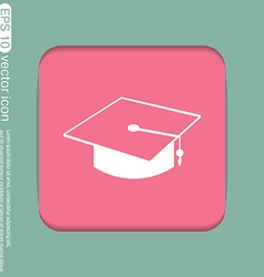 Graduate hat education sign vector
