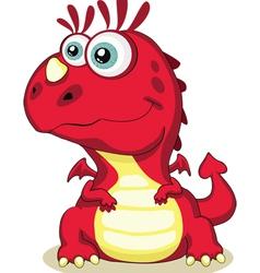 Red cartoon dragon isolated eps 8 5000x6215 vector