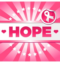 Breast cancer awarness poster vector