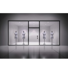 Store interior with mannequins vector
