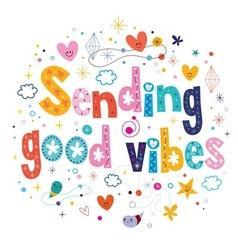 Sending good vibes vector