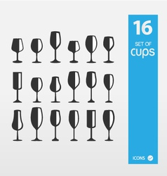 Set of vine cups vector