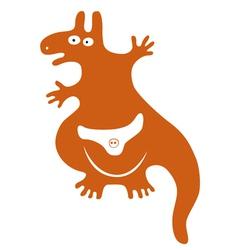 Funny kangaroo vector