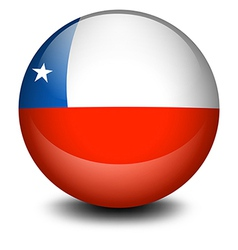 A soccer ball with the flag of chile vector