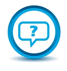 Blue question icon vector