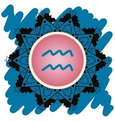 Zodiac sign water bearer aquarius vector