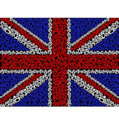 British flag symbol of anarchy vector
