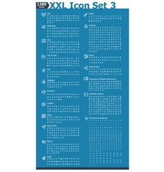 Xxl icon set 3 vector