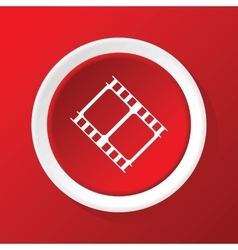 Film strip icon on red vector
