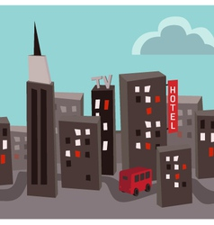 Polluted city vector