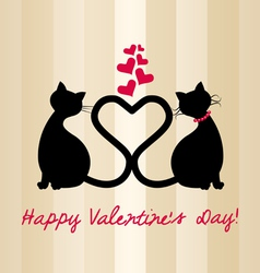 Valentine 2cats vector