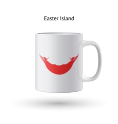 Easter island flag souvenir mug on white vector