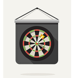 Dart with dartboard flat design vector