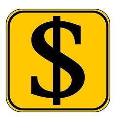 Dollar button vector
