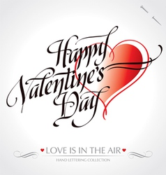Valentine hand lettering vector