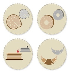 Set of vintage homemade bakery badges vector