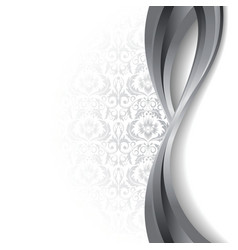 White and silver background vector
