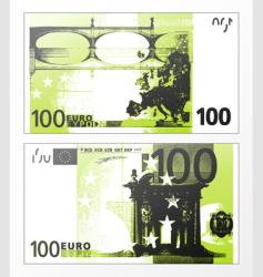 Hundred euro grunge trace vector