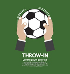 Throw in football or soccer vector