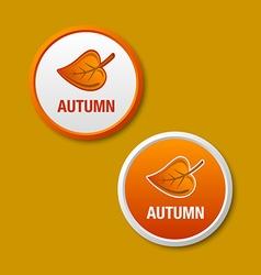 Autumn icons vector