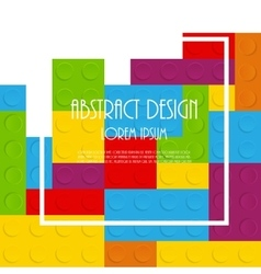 Block abstract pattern vector