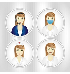 Faceted set of women in labor vector