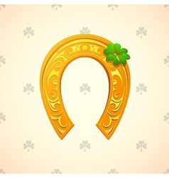 Lucky horse shoe as symbol for saint patricks day vector
