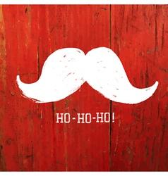 Santa moustache on red concept vector