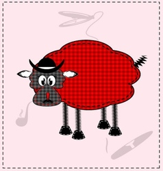 Image of a red-black lamb vector